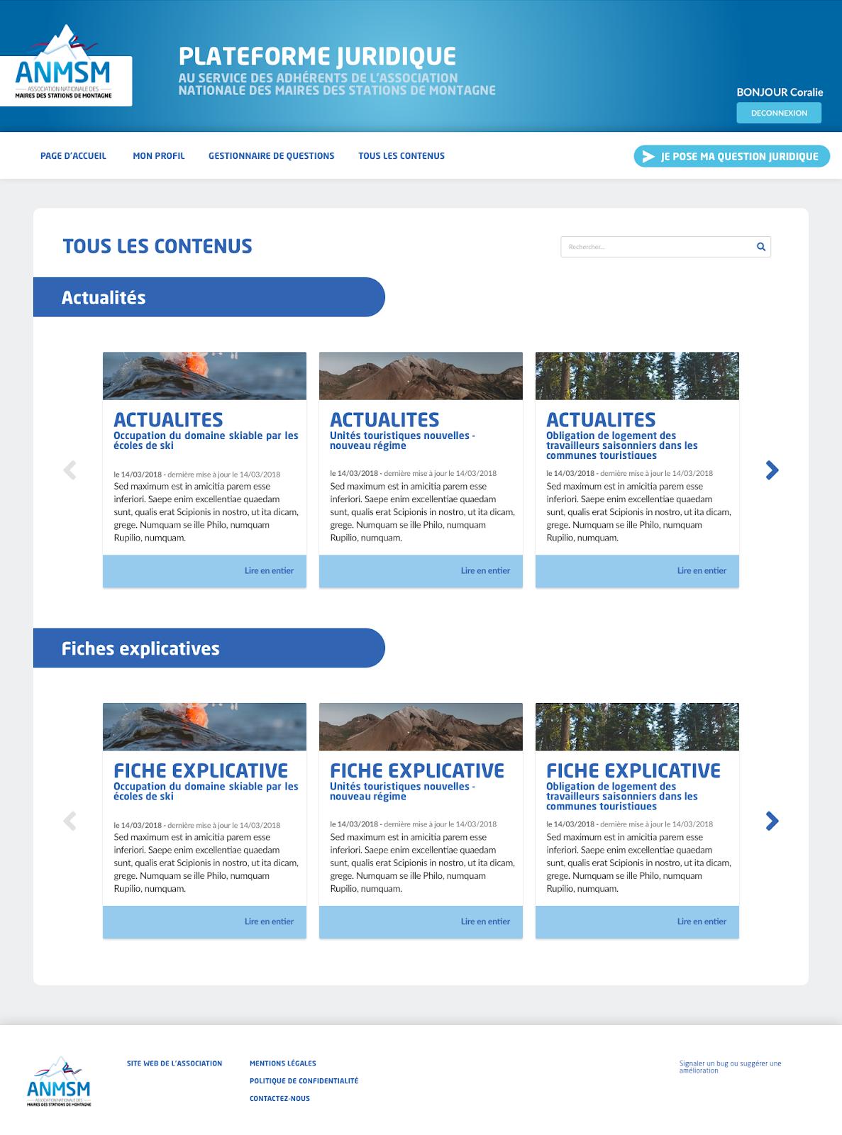 Knowledge management - Association nationale des maires de stations de montagne