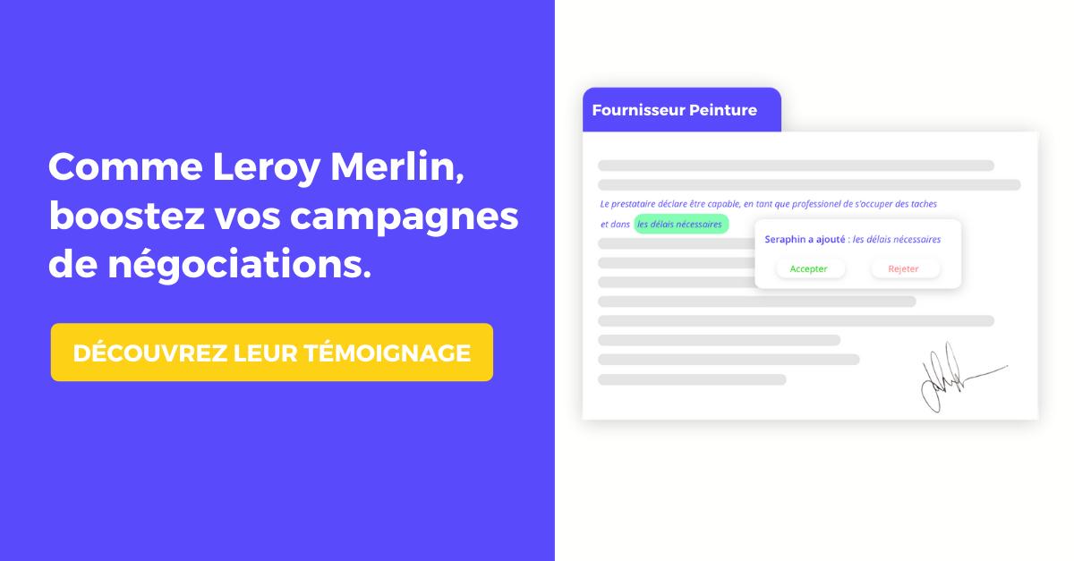 Découvrez comment Leroy Merlin a boosté ses campagnes de négociation fournisseur