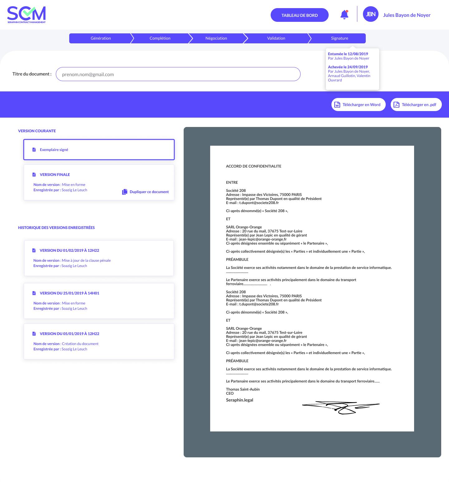 Signez vos contrats avec notre partenaire certifié Docusign