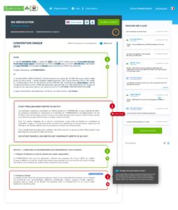 Modèle de contrat enrichi de conseils (contract management software)