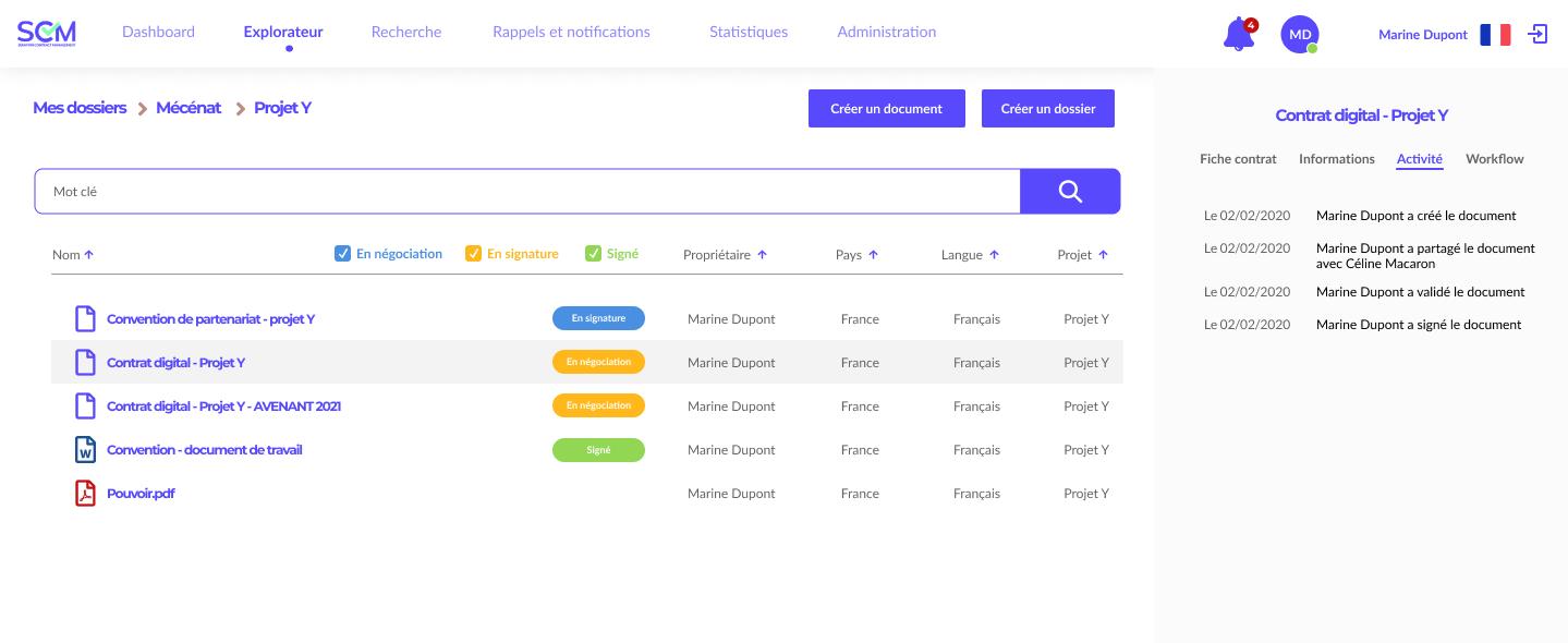 Moteur de recherche (contract management software)