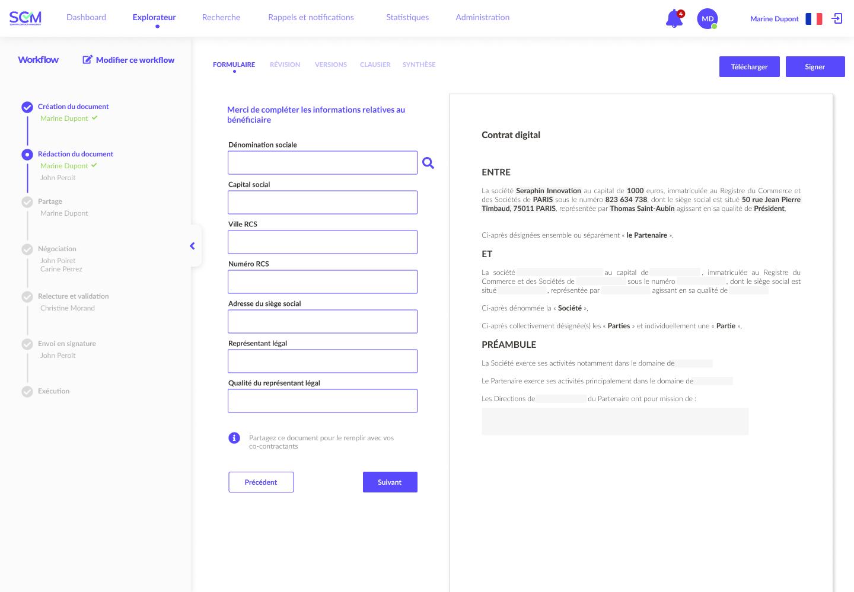 Générateur de contrats - Automatisation de documents juridiques
