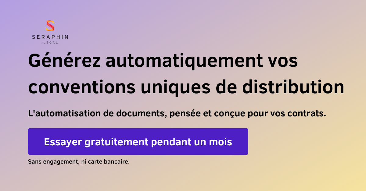 Automatisez vos conventions uniques de distribution