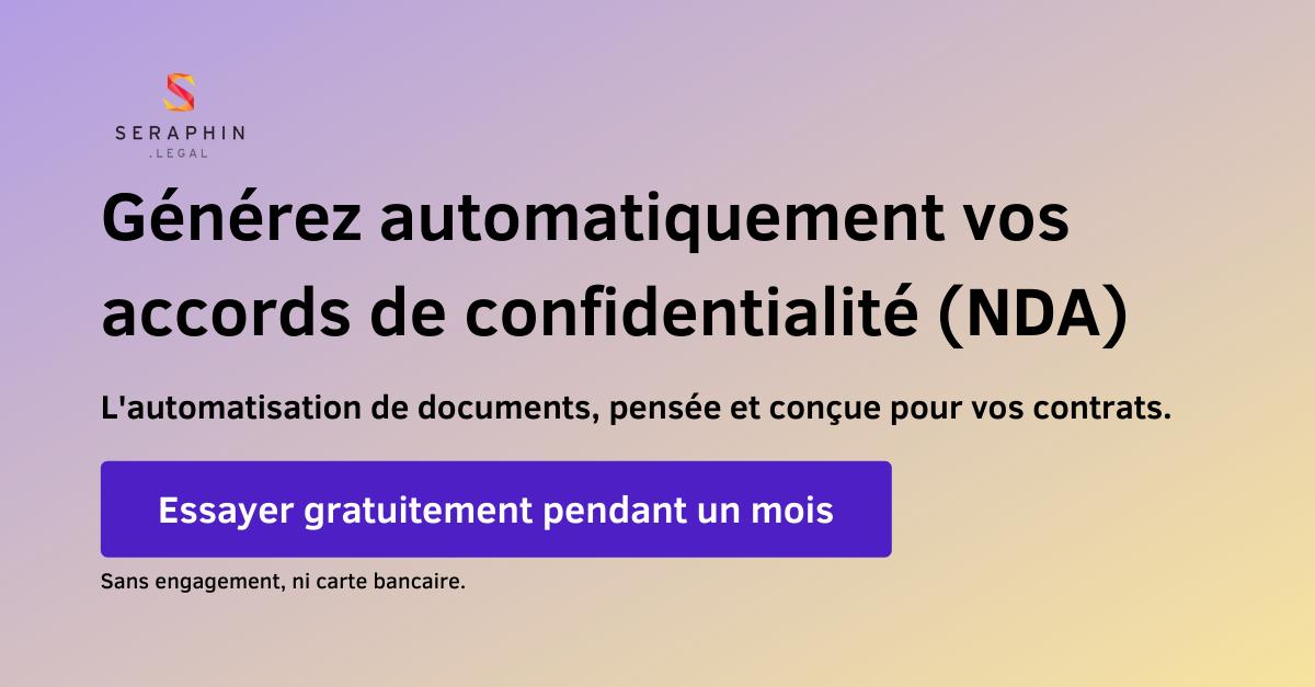 Essayer gratuitement d'automatiser vos accords de confidentialité