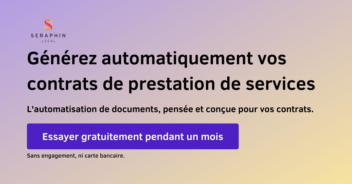 Automatiser contrat de prestation de service